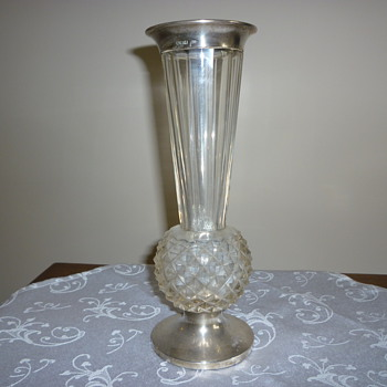 Glass vase - Silver