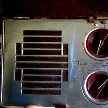 Motorola A-1 portable radio & union 76 oil can