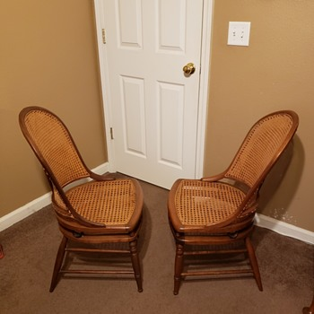 Spring back cane chairs - Furniture