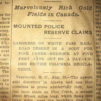 1898 newspaper  - Paper