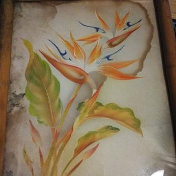 Two wonderful large framed prints signed  Frank Oda -Hale Pua - Fine Art