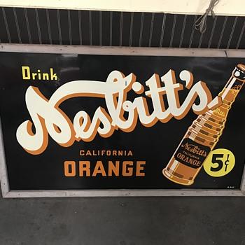Nesbitt's orange soda sign 1930's  - Signs