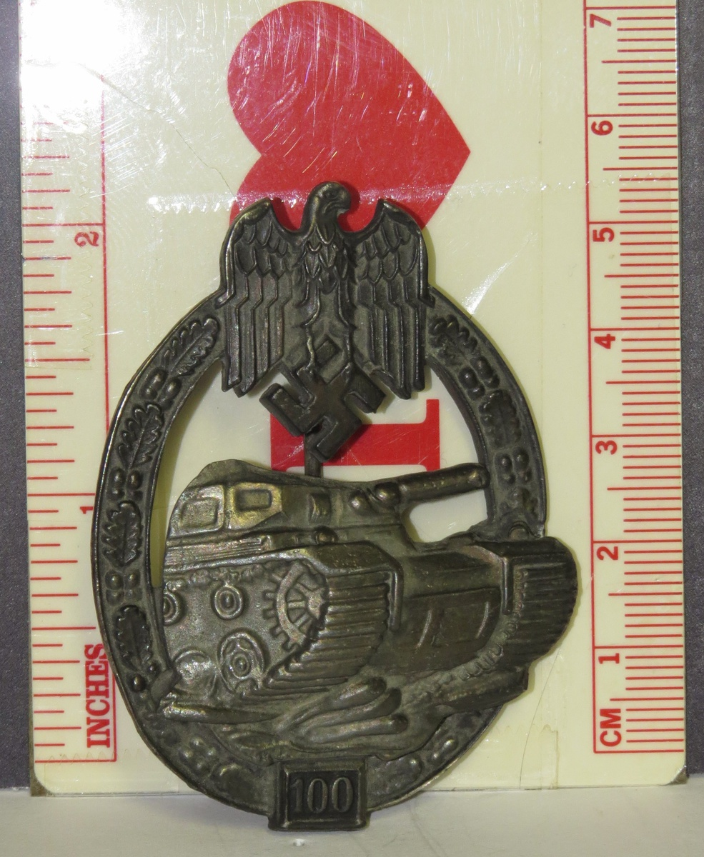 Panzer assault 100 Badge   Collectors Weekly