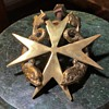 Maltese Cross and Two Dolphin Door Knocker