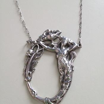 Art Nouveau Mermaid necklace  - Love it - how old?