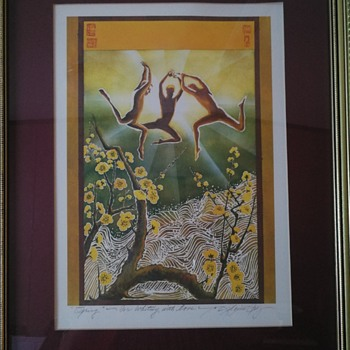 Woodblock print entitled Spring, by unknown artist - Fine Art