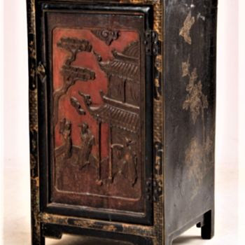 Chinese cabinet. Late 19th century. - Asian