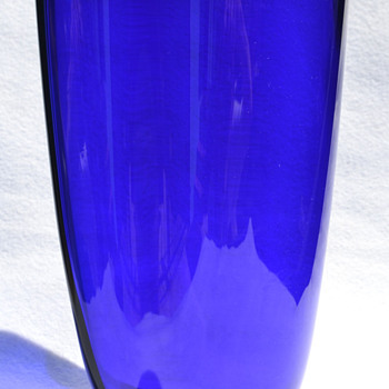 Royal Copenhagen cobalt vase - Art Glass