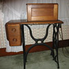 walnut sewing machine table