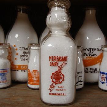 MT. PLEASANT DAIRY...PROVIDENCE RHODE ISLAND COP THE CREAM MILK BOTTLE - Bottles