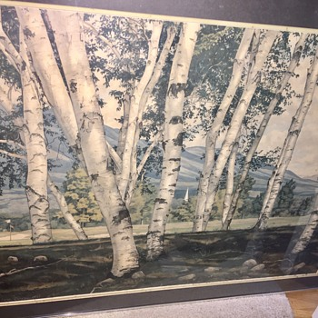 Luigi Lucioni picture White birches of Vermont - Fine Art