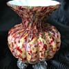 Victorian Welz spatter glass vase
