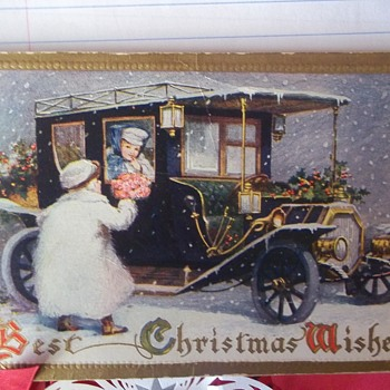Christmas Postcard.   1914.   Beautiful Illustration.  One Of My Favorites!! - Christmas
