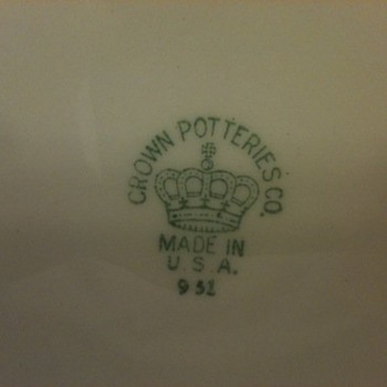Crown Potteries Co. - China and Dinnerware