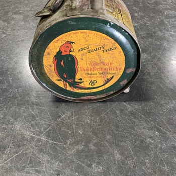 ADCO - 1920's   5 gallon rocker oil can  - Petroliana