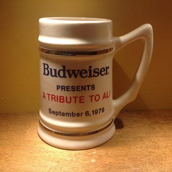 Muhamed Ali Budweiser stein  - Breweriana