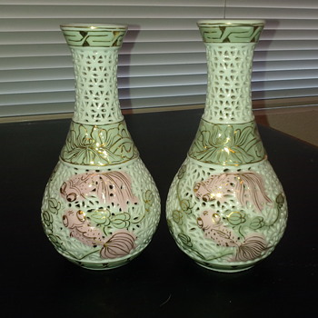 Not sure about this pair of vases - Asian