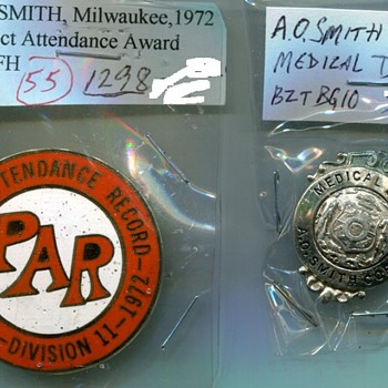 A O Smith Corp. Badges - Medals Pins and Badges