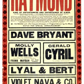 """The Great Raymond"" Original 1919 Hippodrome Broadside"