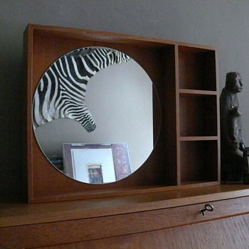 danish modern wall mirror
