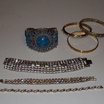 Rhinestones, turquoise and bangles OH MY! - Costume Jewelry