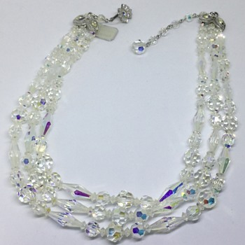 Sherman Crystal Bead Necklace - Costume Jewelry