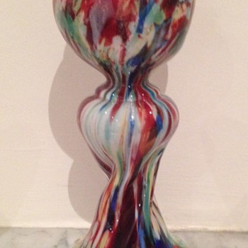 Welz découpage twisted dimpled bud vase - Art Glass
