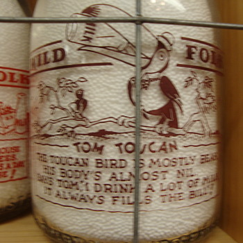 "McVEIGH DAIRY..CHICAGO ILLINOIS..""WILD FOLK SERIES""...TOM TOUCAN - Bottles"