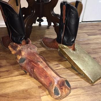 Homemade & Vintage Western Cowboy Boot Jack Pullers - Folk Art