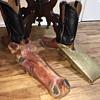 Homemade & Vintage Western Cowboy Boot Jack Pullers