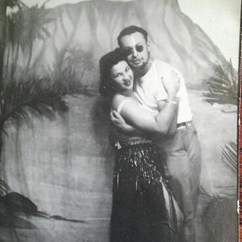 Great uncle George and a hula girl - Photographs