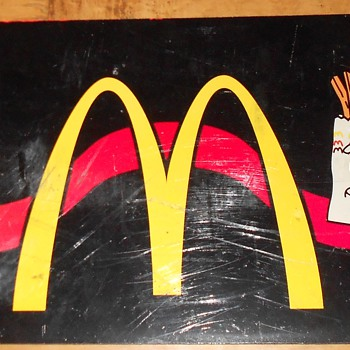 McDonald's fast-food artwork/sign/marquee/panel. McD's Golden Arches.