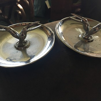 1930s toucan ashtrays  - Art Deco