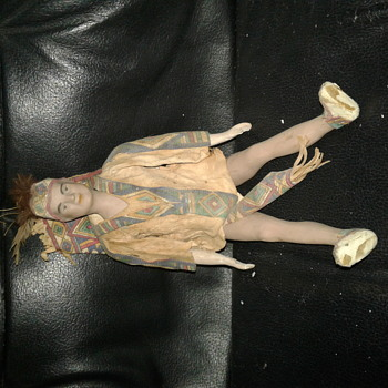 Indian ceramic or porcelain doll arms and legs move