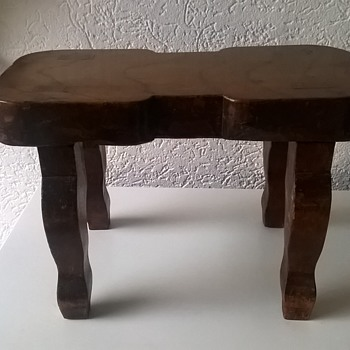 Little Wooden Stool Thrift Shop Find 1 Euro ($1.06) - Furniture