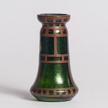 aventurine copper overlay miniature - Art Glass