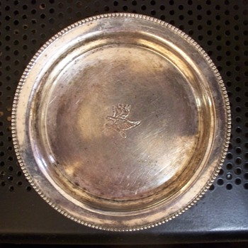 Silver or Not Silver?  Small Coaster with Giffin design + Horse Mark - Silver