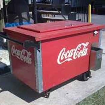 Wooden Coca Cola Cooler