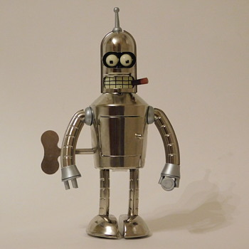 Bender - Bright n' Shiny Wind-Up Tin Robot - Toys