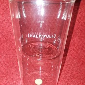 are you a 'glass half full' or 'glass half empty' person?? - Glassware