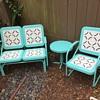 Vintage restoration Hardwear motel glider patio set