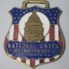 "National Union Fire Insurance ""Farm Dept"" Enamel Watch Fob"