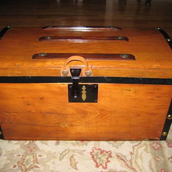 Another Small Child Size Antique Trunk - Furniture