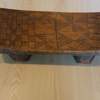 Head Rest or Table? - Folk Art