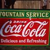 "Hanging porcelain ""Fountain Service"" Sidewalk Sign"
