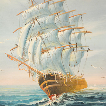 Painting of Sailing Ship - Fine Art
