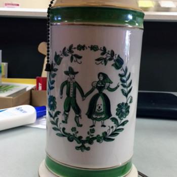 antique ceramic (?) lamp