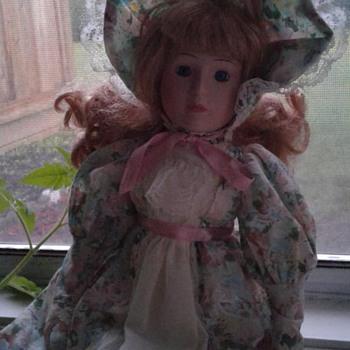 Blonde Haired Porcelain doll - Dolls
