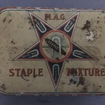 M.A.G. Staple Mixture Tobacco Tin - Tobacciana