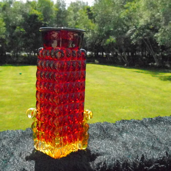 Amberina Bottle/Vase - Art Glass